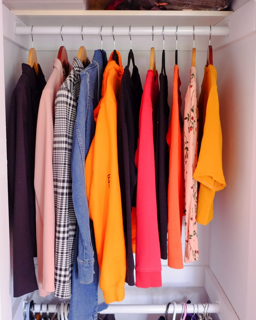 colourful closet, keeps